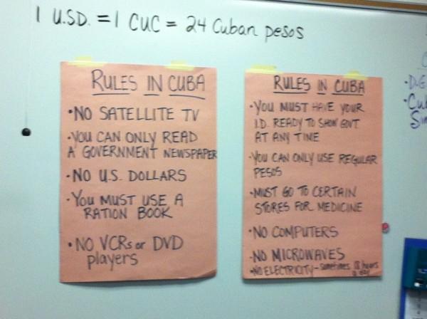 rules in cuba